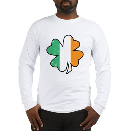 Vintage Irish Shamrock Long Sleeve T-Shirt