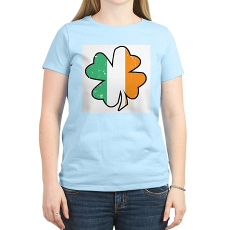 Vintage Irish Shamrock Women's Light T-Shirt