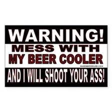 Warning Beer Cooler
