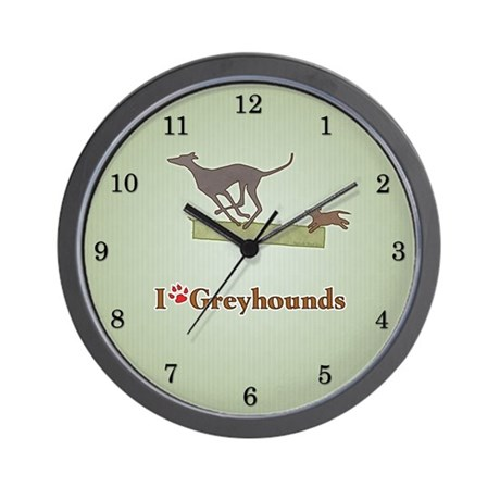 I love Greyhounds Wall Clock