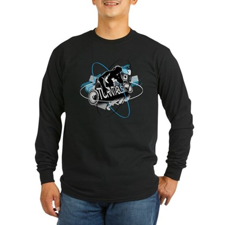 Turntablism DJ Long Sleeve Dark T-Shirt