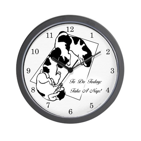 Sleeping Puppies Wall Clock