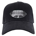 Whitehead Education Quote Black Cap