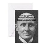 Whitehead Education Quote Greeting Cards (Package
