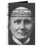 Whitehead Education Quote Journal