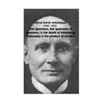 Whitehead Education Quote Mini Poster Print