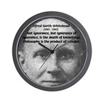 Whitehead Education Quote Wall Clock