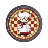 Italian Chef Wall Clock