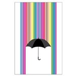 Colored Rain Large Poster
