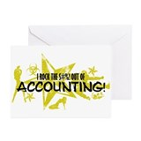 I ROCK THE S#%! - ACCOUNTING Greeting Cards (Pk of