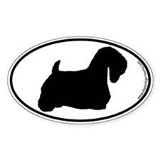 Sealyham Terrier SILHOUETTE Oval Decal