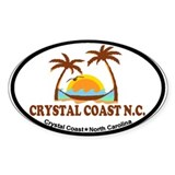 Crystal Coast NC - Palm Trees Design. Decal