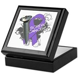 Screw Hodgkins Lymphoma Keepsake Box