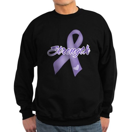 Strength Hodgkins Lymphoma Sweatshirt (dark)
