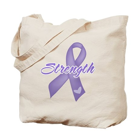 Strength Hodgkins Lymphoma Tote Bag