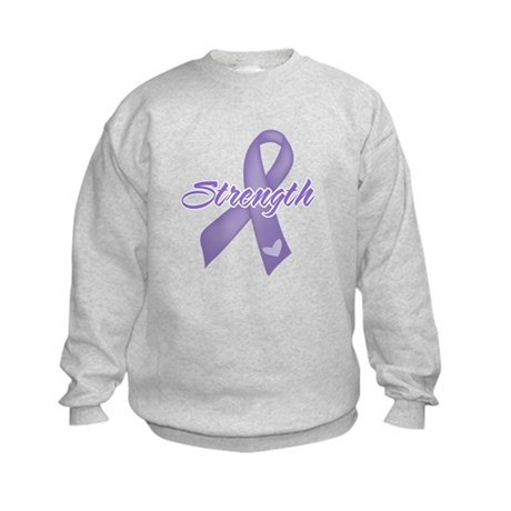 Strength Hodgkins Lymphoma Kids Sweatshirt