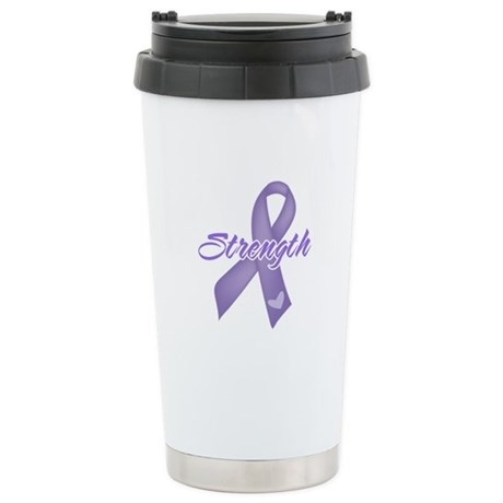 Strength Hodgkins Lymphoma Ceramic Travel Mug
