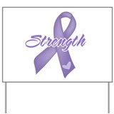 Strength Hodgkins Lymphoma Yard Sign