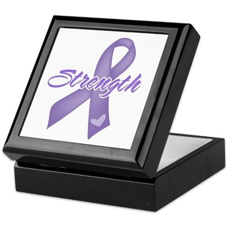 Strength Hodgkins Lymphoma Keepsake Box