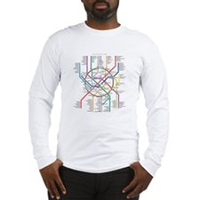 Moscow Metro Map Long Sleeve T-Shirt