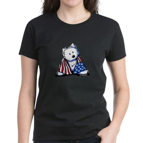 Patriotic Westie Women's Dark T-Shirt