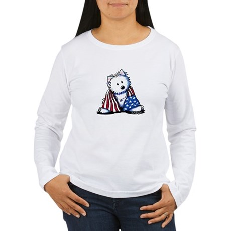 Patriotic Westie Women's Long Sleeve T-Shirt