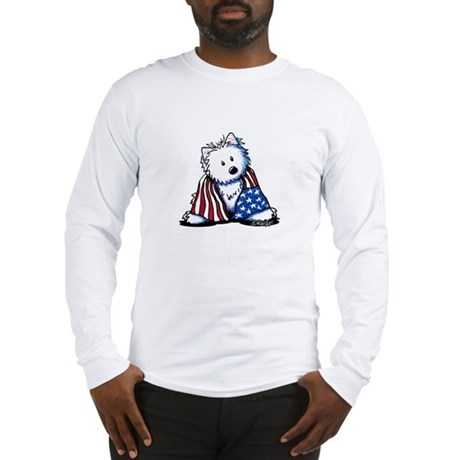 Patriotic Westie Long Sleeve T-Shirt