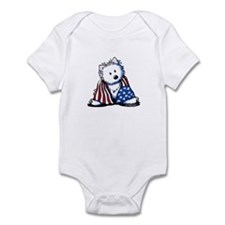Patriotic Westie Infant Bodysuit