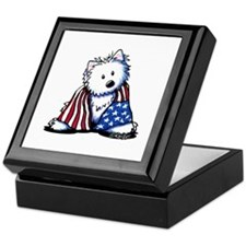Patriotic Westie Keepsake Box