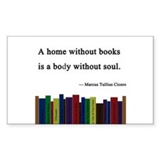 """A Home without Books"" Decal"