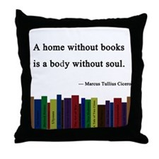 """A Home without Books"" Throw Pillow"