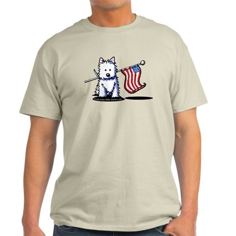 US Flag Westie Light T-Shirt