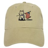 US Flag Westie Baseball Cap