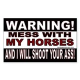 Warning Horses Decal