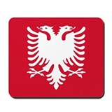 Albanian Eagle Red & White Mousepad