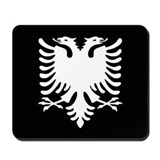 Albanian Eagle Black & White Mousepad