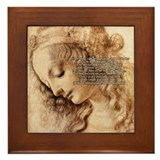 Da Vinci Art with Shakespeare Framed Tile