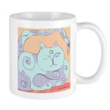 Sleeping Cat Face Mug