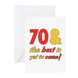 70th Birthday Best Yet To Come Greeting Cards (Pk