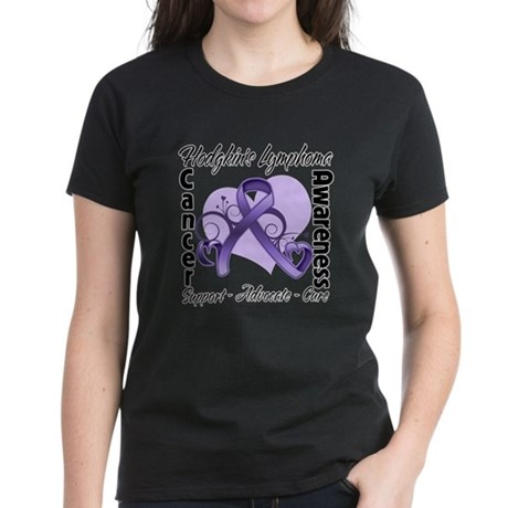 Ribbon Hodgkins Lymphoma Women's Dark T-Shirt