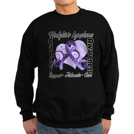 Ribbon Hodgkins Lymphoma Sweatshirt (dark)