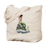Pensive Mermaid Tote Bag