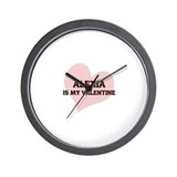 Alexia Is My Valentine Wall Clock