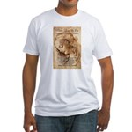 Christmas Shakespeare Da Vinci Fitted T-Shirt
