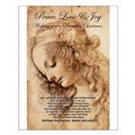 Christmas Shakespeare Da Vinci Small Poster