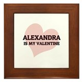 Alexandra Is My Valentine Framed Tile