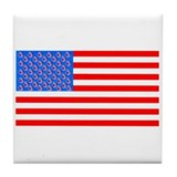 Soccer Plus July 4th Equals Flag Tile Coaster