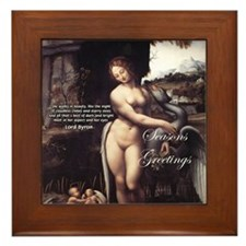 Christmas Seduction / Pleasure Framed Tile