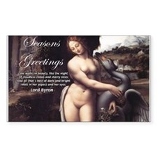 Christmas Seduction / Pleasure Sticker (Rectangula