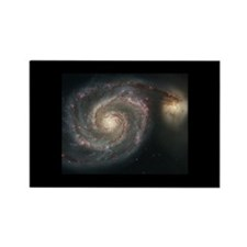 Whirlpool Galaxy (M 51) Rectangle Magnet